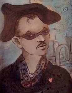 Karl Priebe, Self as a Masquerading Harlequin, 1942. Courtesy Charles Allis Art Museum / Museum of Wisconsin Art.