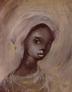 Karl Priebe, Portrait of a Woman with Turban, 1942. Courtesy Charles Allis Art Museum / Museum of Wisconsin Art.