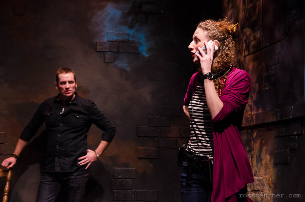 """""""The Understudy"""" features a trio of ambitious artists just a few steps below where they truly want to be: stage manager Roxanne (Cassandra Bissell), movie star Jake (Philip Sletteland) and understudy Harry (Ken T. Williams, unpictured). Show photos credit Ross Zentner."""
