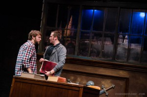 """""""The Understudy's"""" play-within-a-play, a fictional Kafka drama Harry (Williams, L) and Jake (Sletteland) must prepare to understudy, gives the play proper a surreal edge."""
