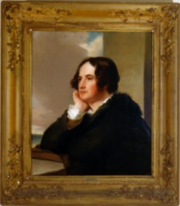 Thomas Sully paints banker Nicholas Biddle, who strikes a pose similar to the much-admired Lord Byron. Image courtesy Milwaukee Art Museum.