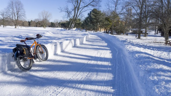 espite almost daily, heavy, drifting snow, Milwaukee County Parks have kept the Oak Leaf Trail plowed through Doyne Park.