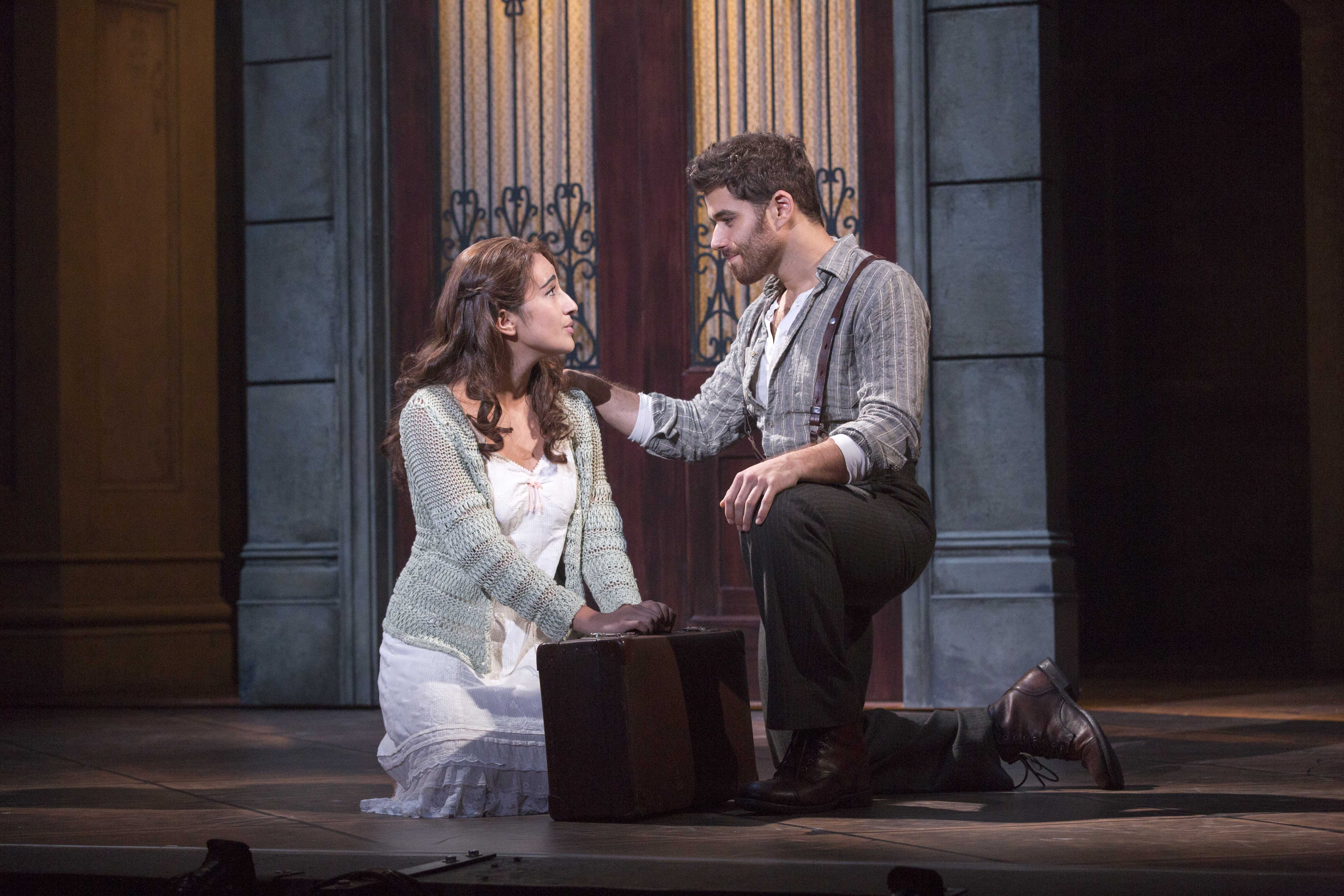 Krystina Alabado as the Mistress and Josh Young as Che in the National Tour of EVITA. Photo Credit: Richard Termine