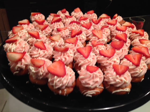 Strawberry Champagne cupcakes. Photo by Jeffrey Merlot.