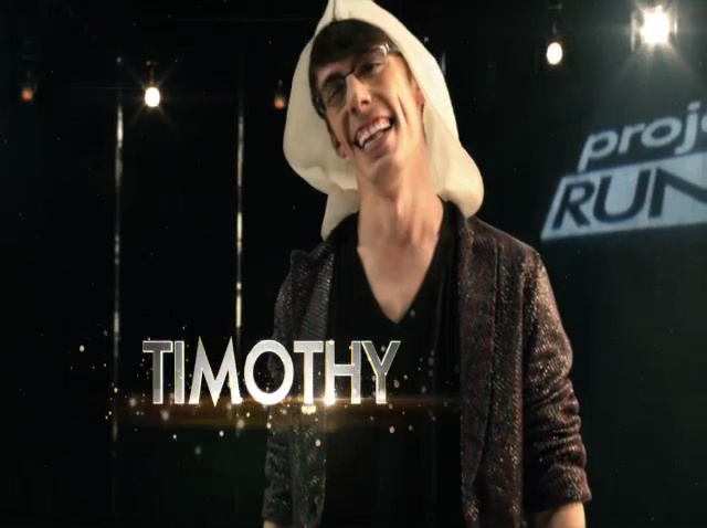 Timothy Westbrook on Project Runway.