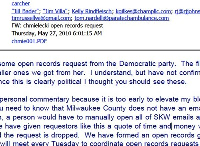 How Walker Handled Open Records Request