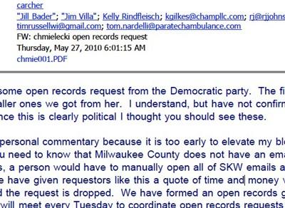 How Walker Handled Open Records Request