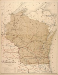 1884 Wisconsin Railroad Map