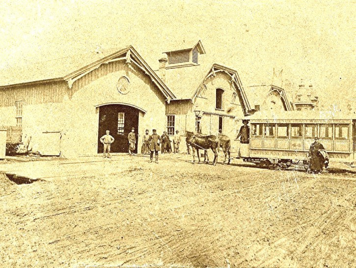Yesterday's Milwaukee: Rail Car Barn at Brady Street, 1870s