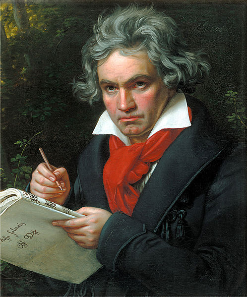 Portrait of Ludwig van Beethoven when composing the Missa Solemnis.