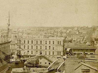 Yesterday's Milwaukee: Spring Street Bridge, 1867