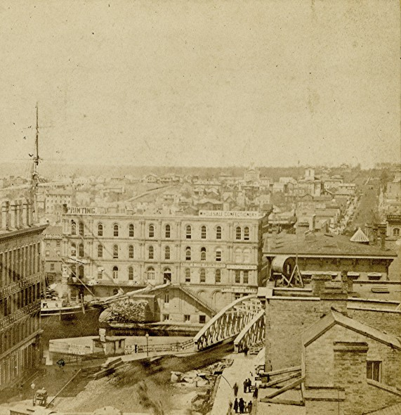 Spring St. Bridge, 1867. Photo courtesy of Jeff Beutner.