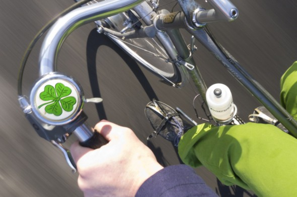 Two years ago I celebrated St. Patrick's Day by bare-handing it on my ride to work.