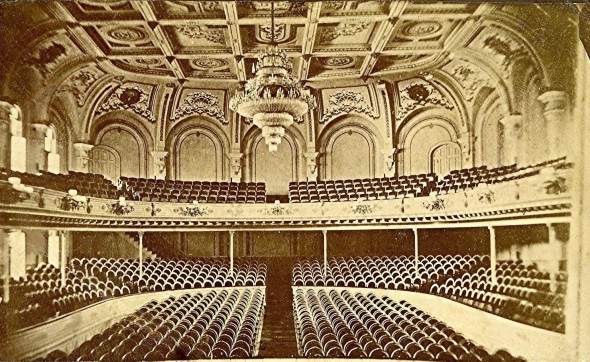 Academy of Music, circa 1876. Photo courtesy of Jeff Beutner.