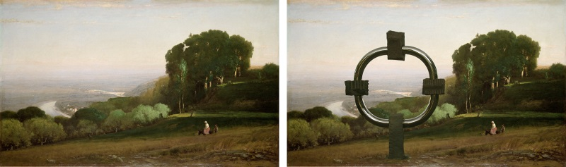 If more art is better, why not add Compass to this classic work by 19th century American landscape painter George Innes?