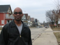 Tony Cooper, a resident of Lindsay Heights for more than 20 years, said he appreciates what Walnut Way does for the community. (Photo by Karen Stokes)