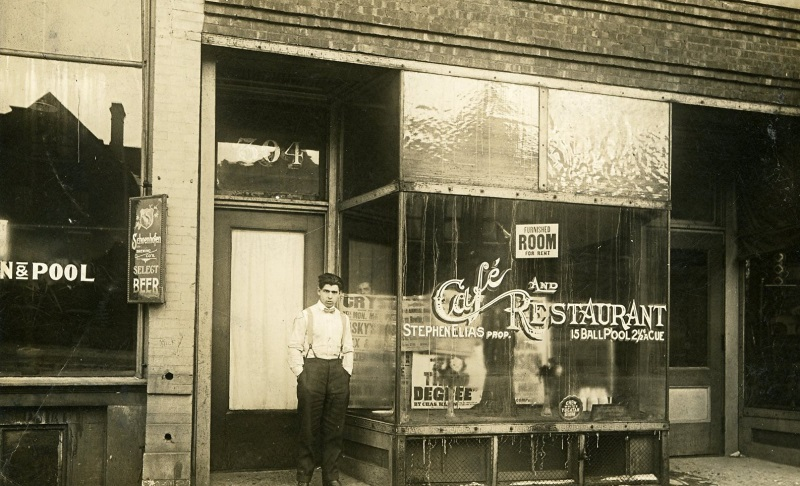 Pool Hall – c. 1915. Photo courtesy of Jeff Beutner.