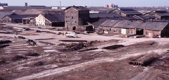 The remnants of thousands of jobs gone. This is what the Menomonee Valley used to look like.
