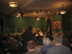 It was a full house at the Turner Hall for a speech on Milwaukee's left wing political history, much of which happened right on the spot. Photo by Michael Horne March 31st, 2014