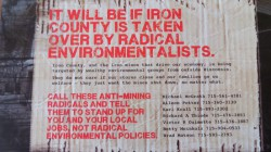 A photo of the Americans for Prosperity flyer sent to residents in Iron County, as published on the blog Woodsperson.