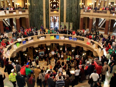 Iowa Copies Walker, Kills Unions