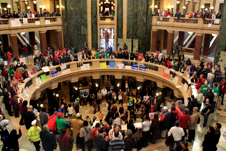 Protest in the Capitol. Photo by Brian Jacobson.