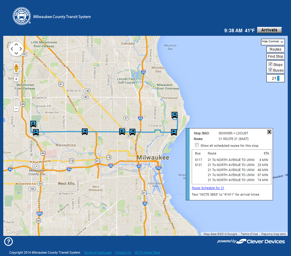 eyes on milwaukee: county transit doubles real time bus data » urban
