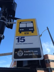 Note the stop number 1231