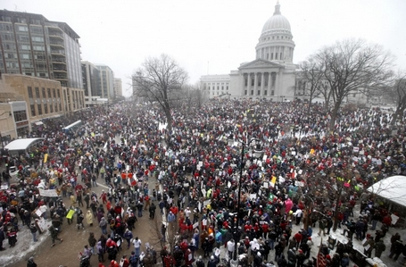 Wisconsin Capitol Protests. Photo by Patti Wenzel