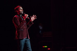 Aziz Ansari at the Riverside. Photo courtesy of the Pabst Theater Group.