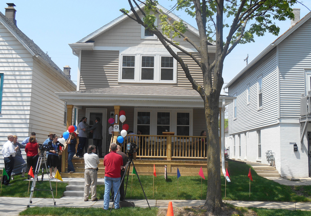 Milwaukee Christian Center's YouthBuild program holds an open house for the completion of its 12th house. (Photo by Brittany Carloni)