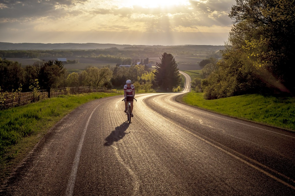 """This photo not only captures the beauty of this state, but the essence of why I have chosen to ride my bike regularly for the past 30 years."" – Kevin Eccles. Photo by Julian Kegel"