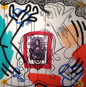 "From Keith Haring's ""Apocalypse Series,"" on view at RedLine Milwaukee."