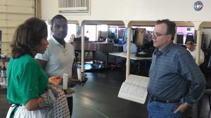 Florentine General Director William Florescu rehearses with soprano Alyson Cambridge (Mimi) and tenor Noah Stewart (Rodolfo) for the company's upcoming production of La Bohème. Photo courtesy of the Florentine Opera.
