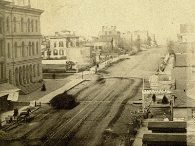 Yesterday's Milwaukee: Wisconsin Ave. at Milwaukee St., 1862