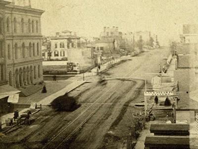 Yesterday's Milwaukee: Wisconsin Ave. at Milwaukee St., 1862