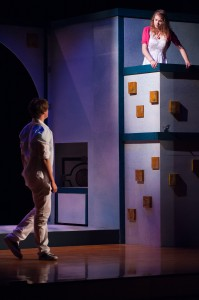 Max Mainwood and Kiaran Hartnett in First Stage's ROMEO AND JULIET.  Photo by Paul Ruffolo.