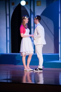 Mary Elsa Heinrichs and Conlan Ledwith in First Stage's ROMEO AND JULIET.  Photo by Paul Ruffolo.