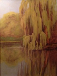 Painting by Ann Powell on view at Art Bar in Beautiful Spring!