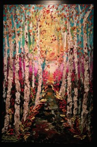 Painting by Barbara Scharpf on view at Art Bar in Beautiful Spring!