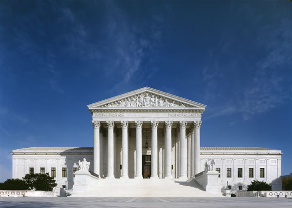 West façade of the Supreme Court Building.
