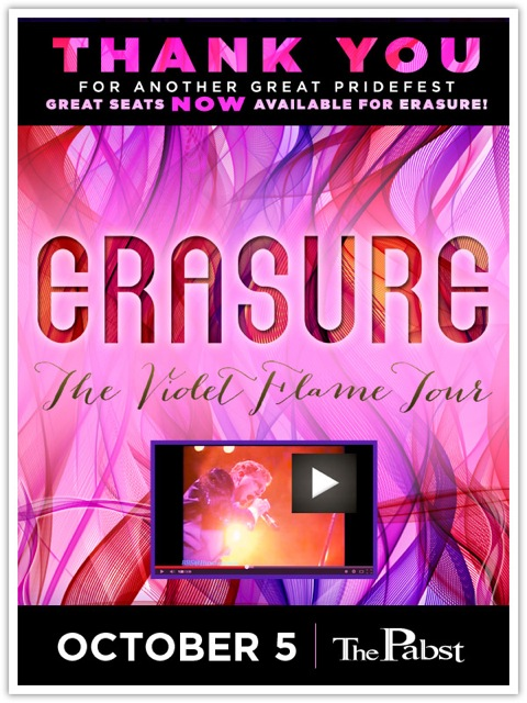 Erasure returns to Milwaukee October 5