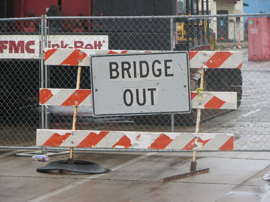 A $1.9 million project to replace the West Lisbon Avenue Bridge began Monday.