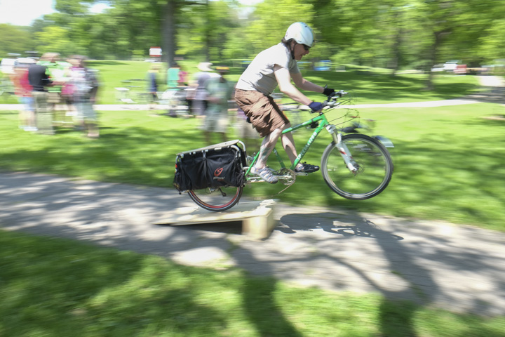 Cargo bikes taking sweet jumps is the face of the new Milwaukee.