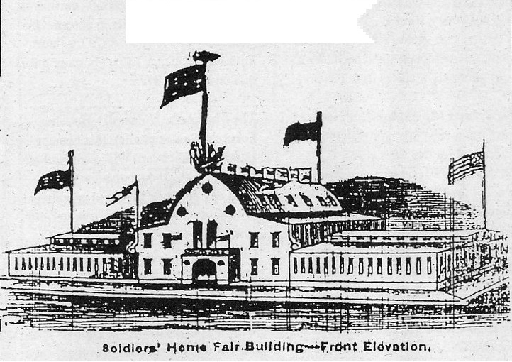 Soldiers' Home Building -- Front Elevation.