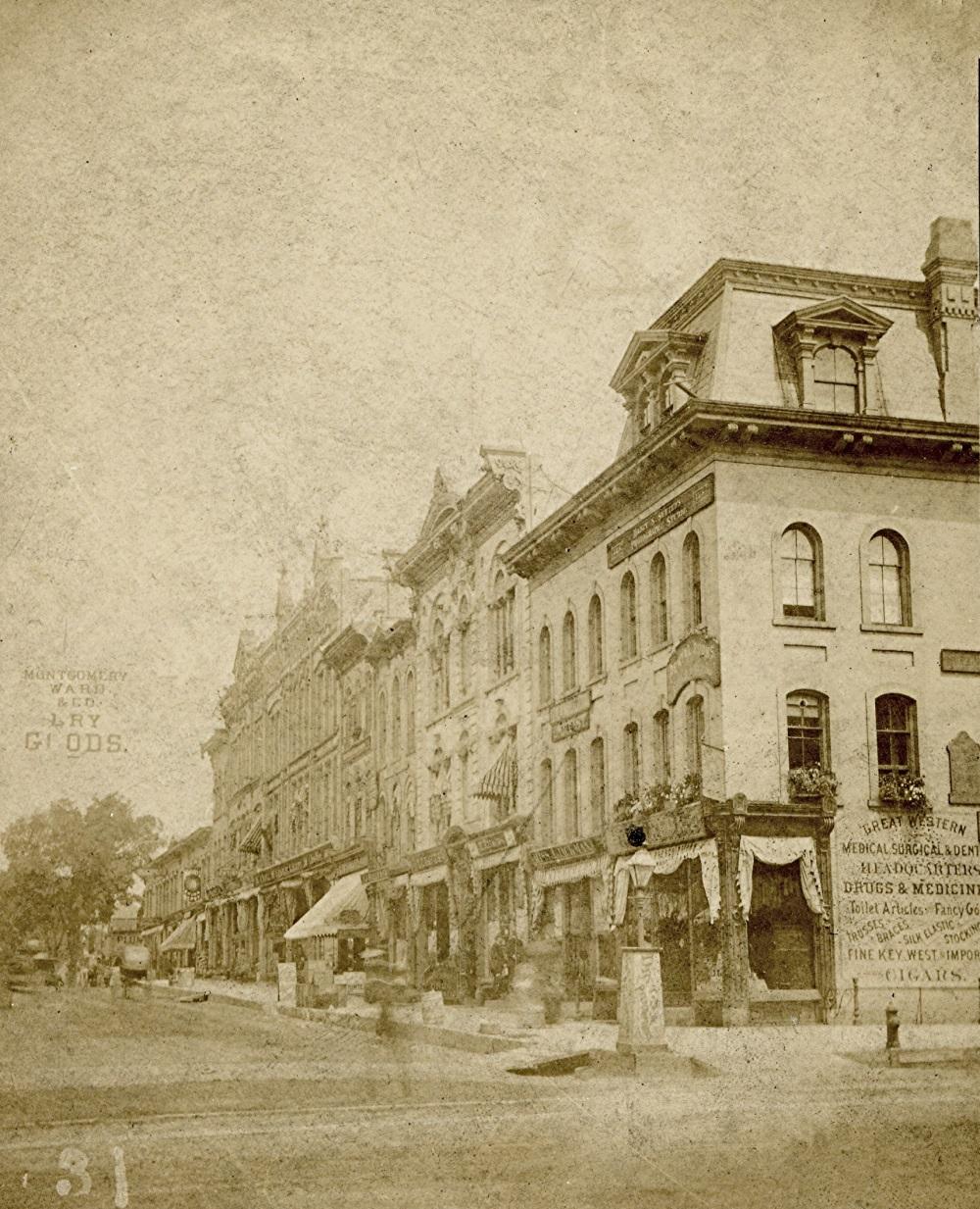 Wisconsin Street at Milwaukee, 1880
