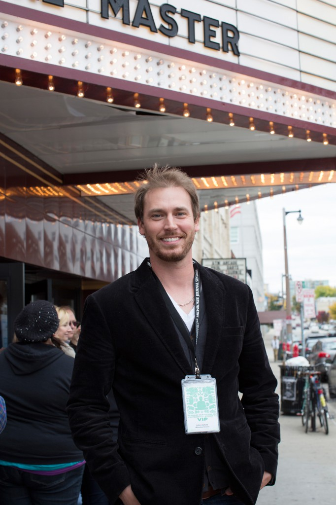 Sponsor John Axford at the 2012 Milwaukee Film Festival. Photo by Pamela Strohl for the Milwaukee Film Festival.