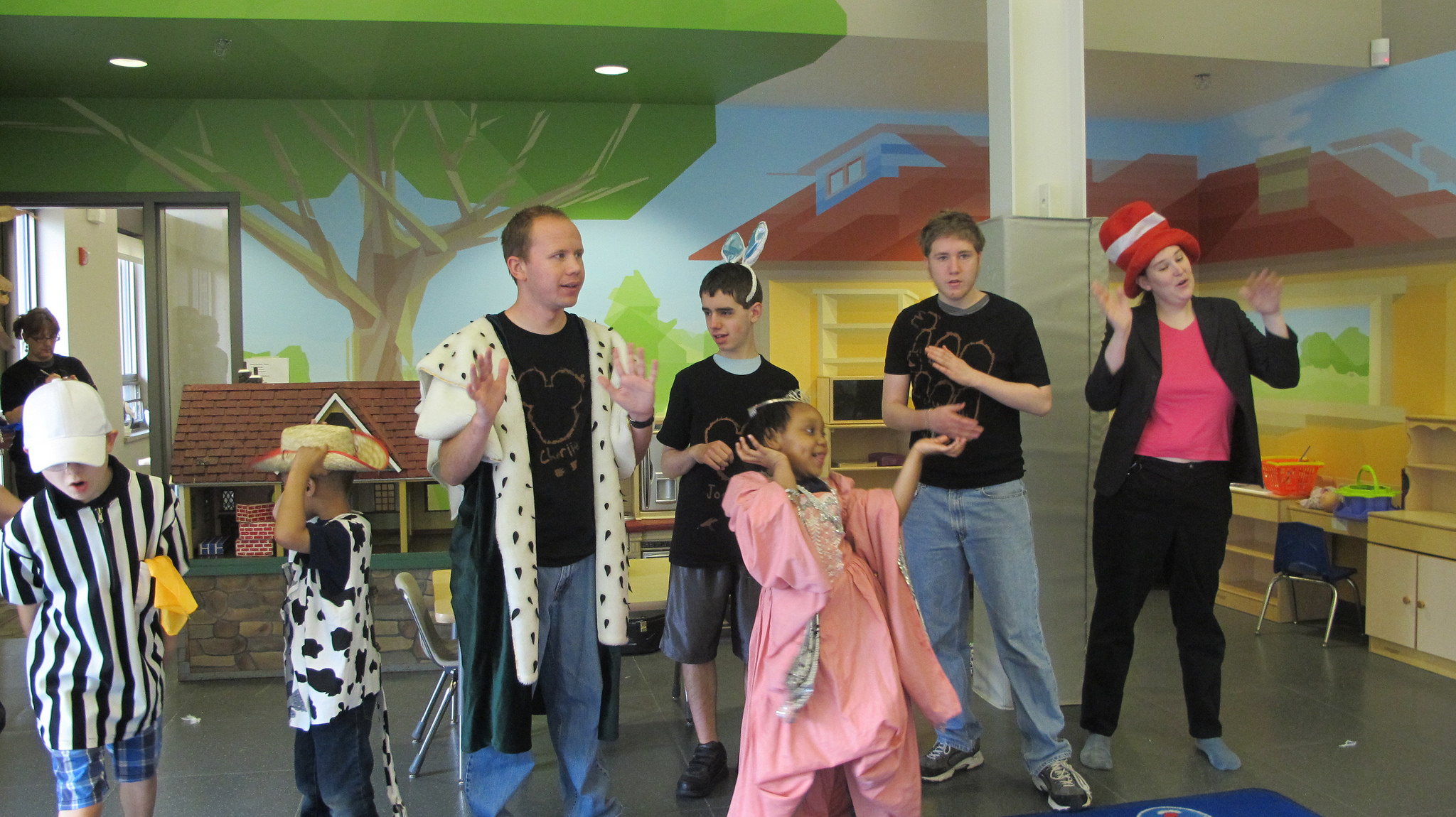 SuperStars Summer Arts Camp participants perform a song from a Disney movie. (Photo by Karen Stokes)