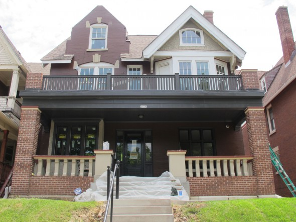 Utopia 136's second property, a large five-family building, is located at 2518 N. 1st St. in Harambee. (Photo by Patrick Leary)