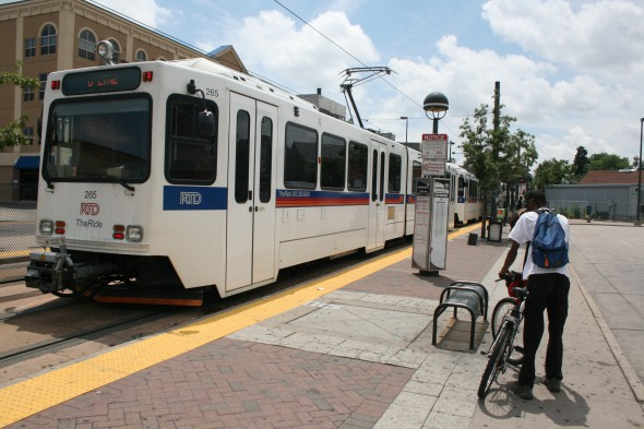 Denver Light Rail as seen in 2012. Photo by Jeramey Jannene.